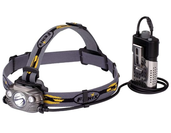 Fenix HP30R Rechargeable LED Headlamp, Gray, 1750 Max Lumens