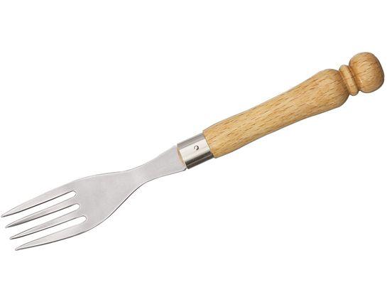 MAM Filmam 100 3.5 inch Stainless Steel Fork, Beech Wood Handle