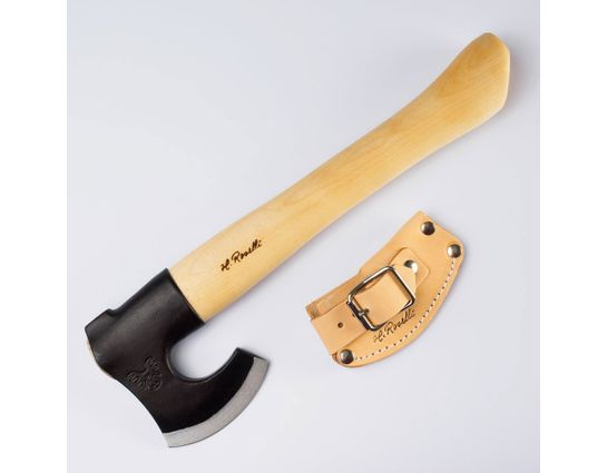 Kellam H Roselli Finnish Short Hiking Axe, Hand Forged Carbon Steel Head, 14.2 inch Overall