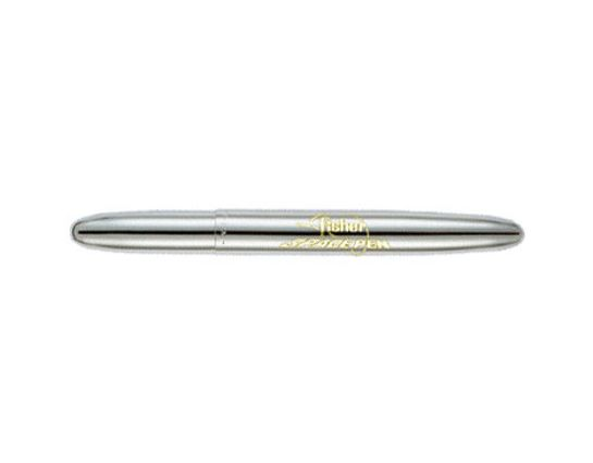 Fisher Chrome Bullet Space Pen with Fisher Space Pen Logo