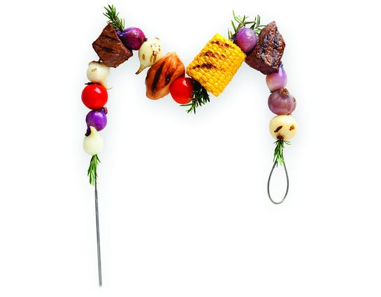 Fire Wire Flexible BBQ Barbeque Grilling Skewers, Stainless Steel, Set of 2