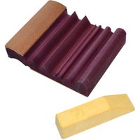 Flexcut 4 inch x 3.25 inch Leather SlipStrop w/ Polishing Compound