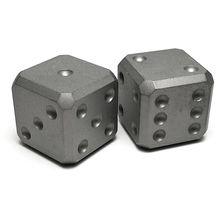 Flytanium Large Cuboid Titanium Dice, 2-Pack, Blasted