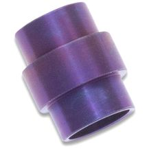 Flytanium Titanium Lanyard Tube for Spyderco Paramilitary 2, Purple Anodized - Knife Not Included
