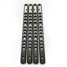 Flytanium V3 Titanium Scales for Benchmade 62, 63, and 67 Balisong Knives, Stonewash, Knife Not Included