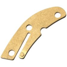 Flytanium Brass Backspacer for Spyderco Delica, Stonewashed, Knife Not Included