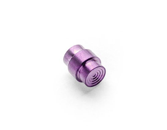 Flytanium Titanium Stepped Hole Stopper for Spyderco Paramilitary 2 and 3, Purple Anodized, Knife Not Included