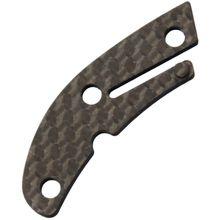 Flytanium Carbon Fiber Backspacer for Spyderco Delica, Matte, Knife Not Included