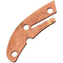Flytanium Copper Backspacer for Spyderco Delica, Stonewashed, Knife Not Included
