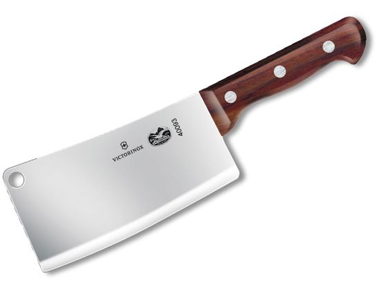 Victorinox Forschner 7 inch Heavy Restaurant Cleaver, Rosewood Handles (Old Sku 40093)