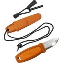 Morakniv Eldris Pocket-Size Neck Knife Kit Fixed 2.2 inch 12C27 Blade, Fire Starter, Paracord, Burnt Orange Polypropylene Handle