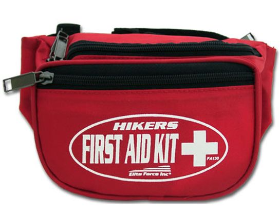 First Aid Kit Hikers Fanny Pack Cordura Nylon Case Approx 9 inch Long