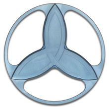 Eric Garza/Tuff-Writer Custom Light Blue Titanium Triquetra Spinner