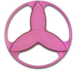 Eric Garza/Tuff-Writer Custom Pink Titanium Triquetra Spinner