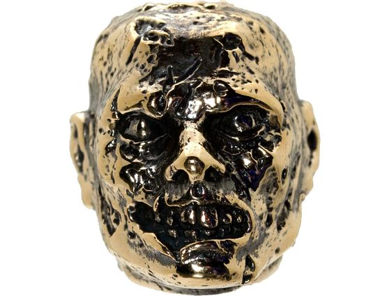 GD Skulls USA Bronze M2 Monsters of the World Zombie Bead