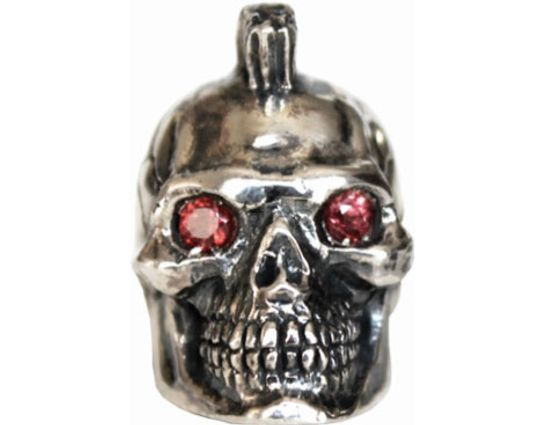 GD Skulls USA W5-A Mohawk Skull 2 with Bejeweled Eyes