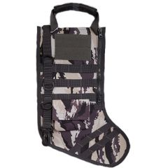 GenPro RuckUp Snow Camo Tactical Christmas Stocking with MOLLE Attachment