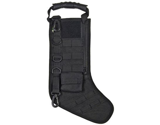 GenPro RuckUp Junior Black Tactical Christmas Stocking with MOLLE Attachment
