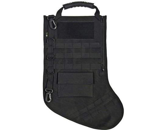 GenPro RuckUp Supersized Black Tactical Christmas Stocking with MOLLE Attachment