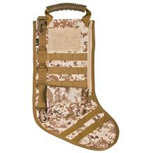 GenPro RuckUp Desert Digital Camo Tactical Christmas Stocking with MOLLE Attachment