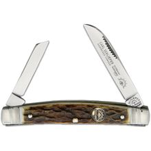 German Eye Brand Two-Blade Congress 3.38 inch Closed, Stag Handles