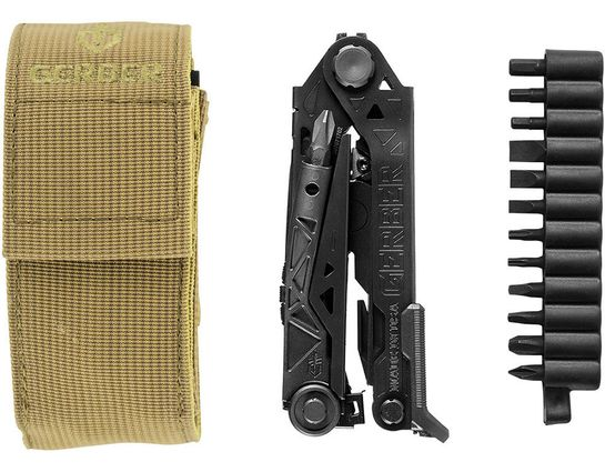 Gerber Center-Drive Black Multi-Tool with Bit Set, Tan MOLLE Compatible Sheath