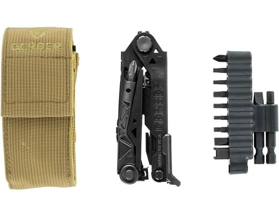 Gerber Center-Drive Black Multi-Tool with M4 Bit Set, Coyote Brown Berry-Compliant Sheath