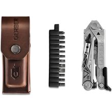 Gerber Center-Drive Plus Multi-Tool, Brown Leather Sheath