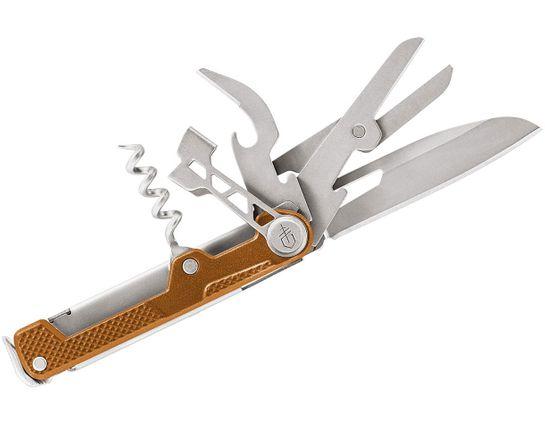 Gerber Armbar Cork Multi-Function Folding Knife 2.5 inch Plain Blade, Orange Handle