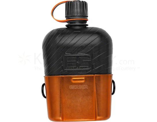Gerber 31-001062 Bear Grylls Canteen/Cup, 1 Liter
