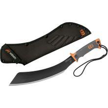 Gerber 31-002289 Bear Grylls Parang Machete 13.5 inch Carbon Steel Blade, Rubber Handles