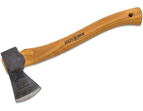 Hults Bruk Premium Almike 16 inch Hatchet, Hickory Wood Handle, Leather Sheath