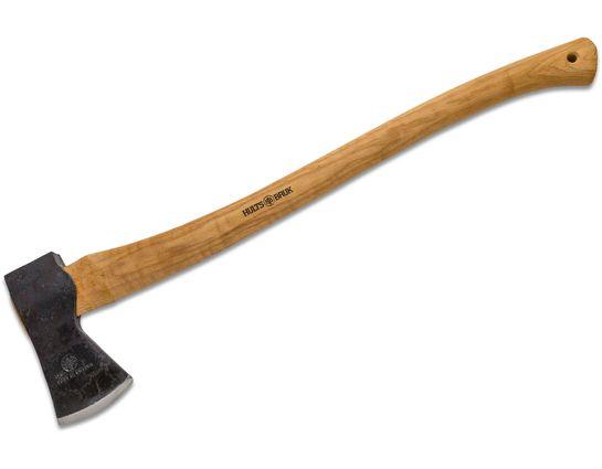 Hults Bruk Premium Kisa 26 inch Felling Axe, Hickory Wood Handle, Leather Sheath
