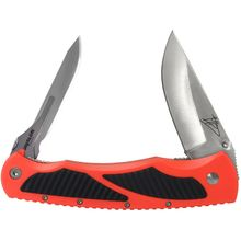 Havalon Titan Replaceable Double-Bladed Hunting Knife, Blaze Orange Handles, Nylon Sheath