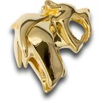 HEAdesigns Brass Sabertooth Bead, Chrome Gold