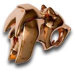 HEAdesigns Copper Sabertooth Bead, Mirror Polished