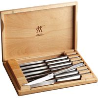 Zwilling J.A. Henckels Stainless 8 Piece Steak Knife Set in Presentation Box