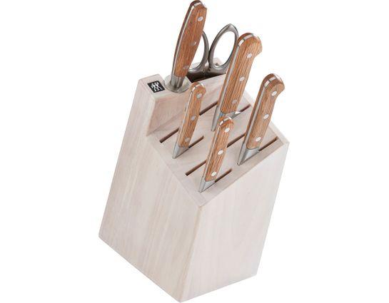 Zwilling J.A. Henckels Pro Holm 7 Piece Knife Block Set, White Block