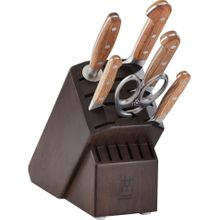Zwilling J.A. Henckels Pro Holm 7 Piece Knife Block Set, Walnut Block