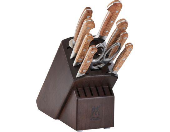 Zwilling J.A. Henckels Pro Holm 10 Piece Knife Block Set, Walnut Block