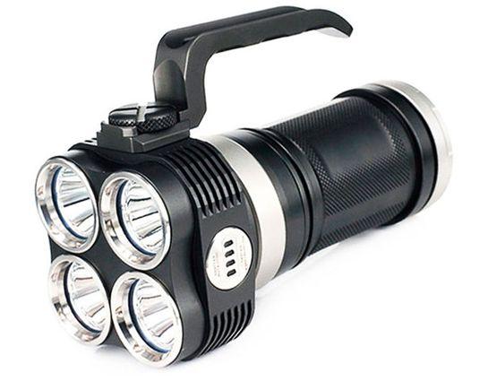 JETBeam EYE40 Rechargeable Aluminum LED Flashlight 4x18650, 3150 Max Lumens