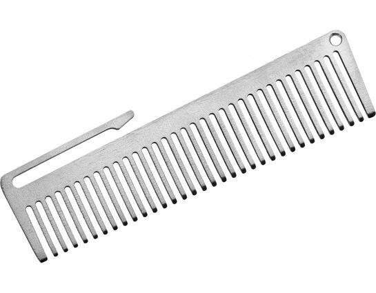 John Gray Small Titanium Comb with Pocket Clip, 3.375 inch Overall