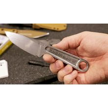 KA-BAR 1119 Wrench Knife 3 inch 425 High Carbon Stainless Steel Blade, One-Piece Construction, Hard Plastic Sheath