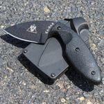 KA-BAR 1493 TDI Investigator Knife 2.71 inch Black Plain Blade, Nylon Handles, Hard Plastic Belt Sheath