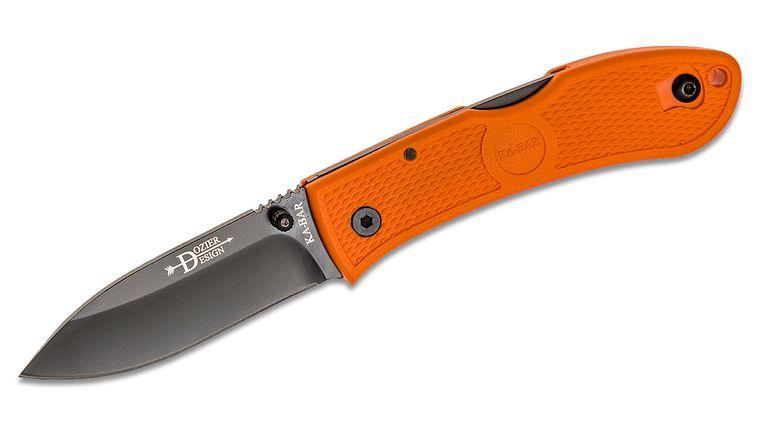 KA-BAR 4062BO Dozier Folding Hunter 3 inch Black Plain Blade, Blaze Orange