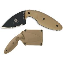 KA-BAR 1477CB TDI Law Enforcement Knife Coyote Brown 2.31 inch Combo Blade