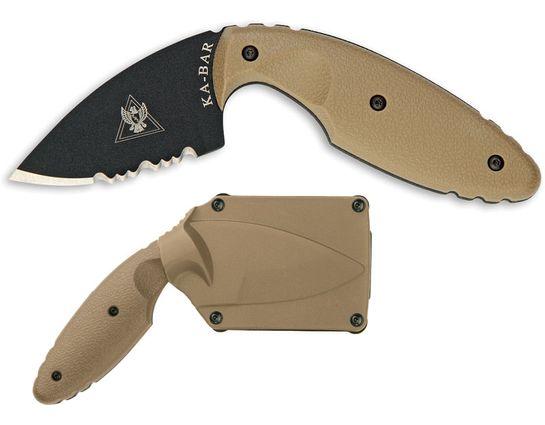 KA-BAR 1477CB TDI Law Enforcement Knife Coyote Brown 2.31 inch Combo Blade