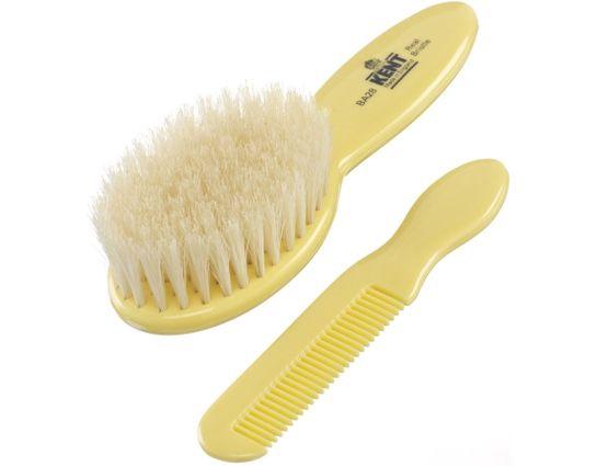 Kent Brushes BA28 Baby Brush and Hair Comb Set, Yellow