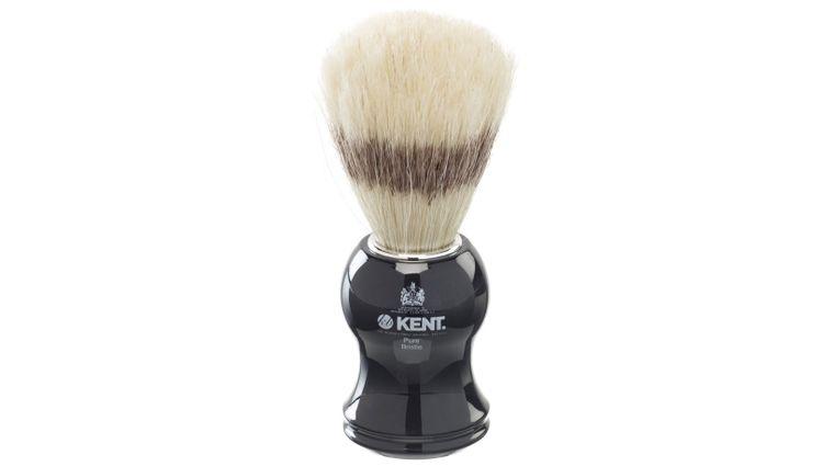 Kent VS60 Pure Bristle Badger Effect Shave Brush, Black Handle