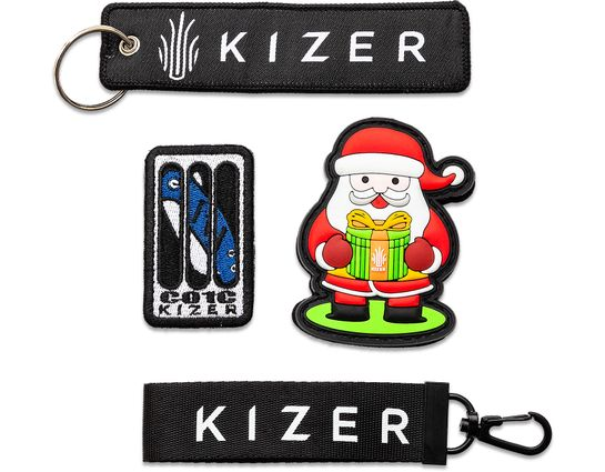 Kizer Cutlery Keychain Lanyard, Flight Tag, and Patch Gift Set (FREE Promotional Gift with Every Kizer Purchase)